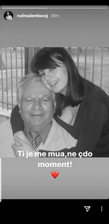 Humbi pak ditë më parë të atin, Rudina Dembacaj publikon