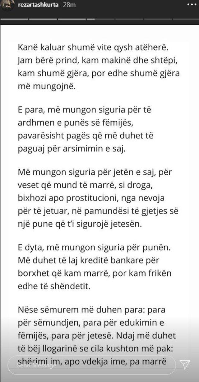"""""""Na fal Enver"""", Rezarta Shkurta publikon letrën drejtuar"""