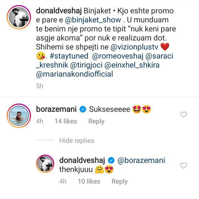 Donald Veshaj's closeness with Angel Shkira makes Bora Zeman jealous, the