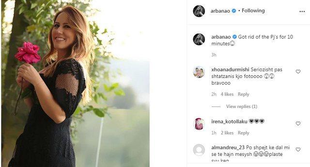 """""""Seriozisht...?"""", Arbana Osmani pozon pas lindjes, i befason të"""
