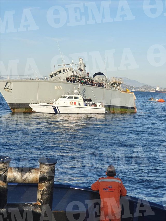 Serious incident occurs during the night, Greek military ship splits in two
