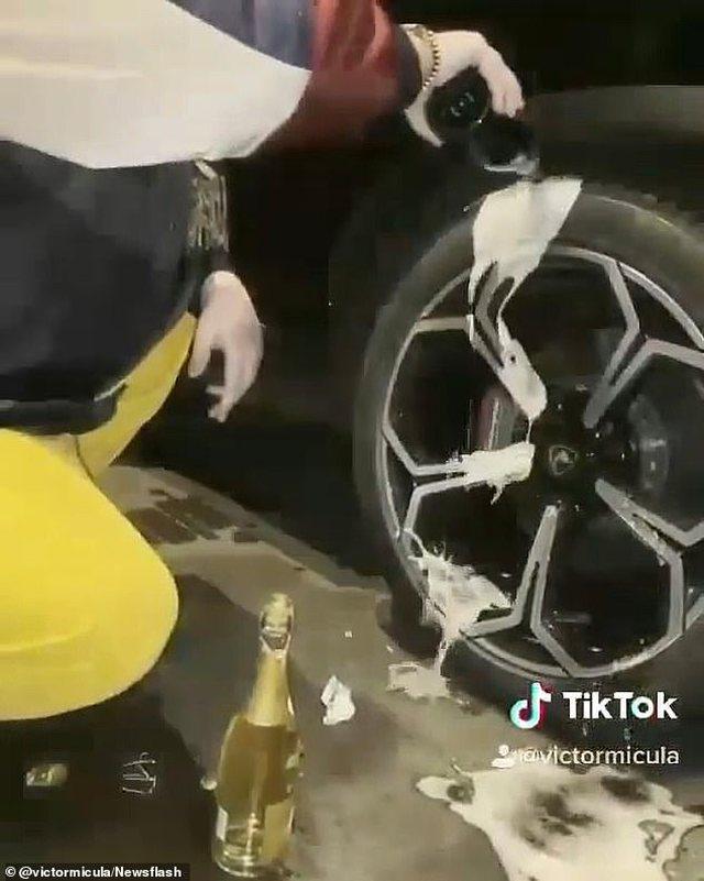 Videoja bën xhiron e rrjetit, djali i biznesmenit lan gomat e Lamborghinit