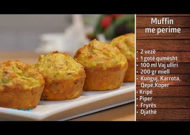 Recipe in 2 minutes: Vegetable muffin