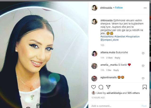 Moderatoja Aida Shtino pëson ndryshimin e madh në pamjen e saj, fansat