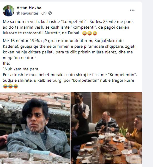 Darka luksoze e zyrtarëve shqiptarë në Dubai, Artan Hoxha