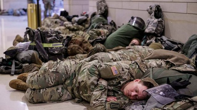 US is a 'state of war', incredible images of National Guard soldiers