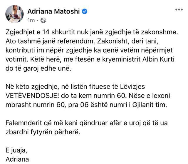 Aktorja e njohur shqiptare befason me lëvizjen, i futet politikës: Do