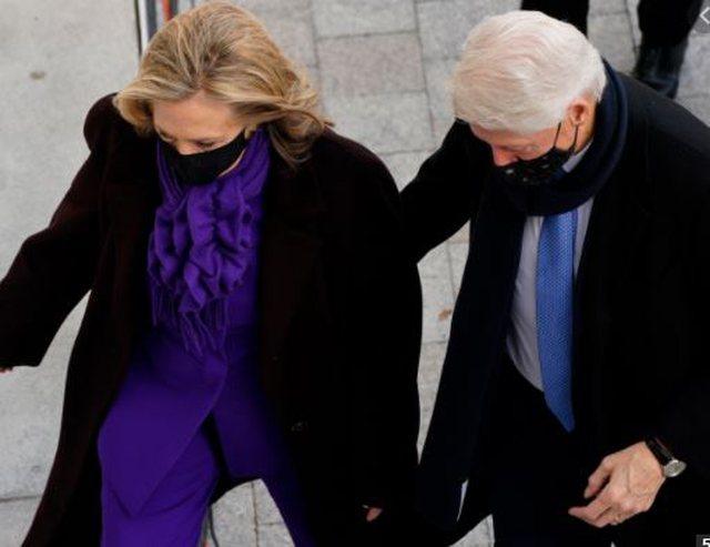 'Clipped mat' Bill Clinton during the inauguration of Joe Biden, the