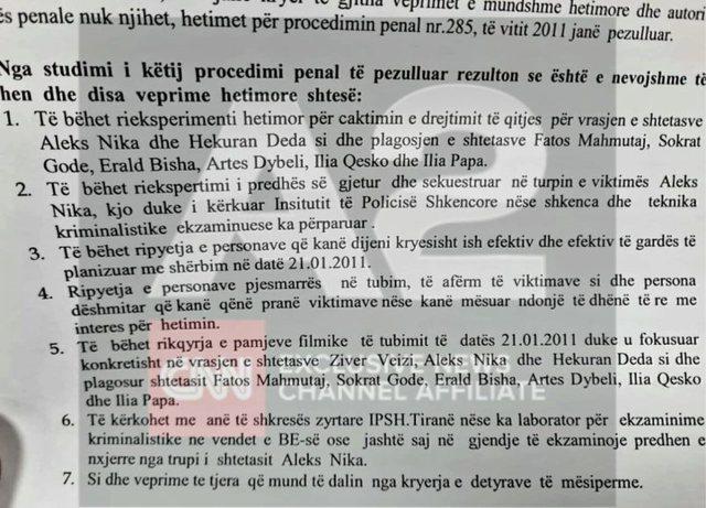 Rihapet 21 Janari, hetime ndaj Berishës për vrasjen e Aleks