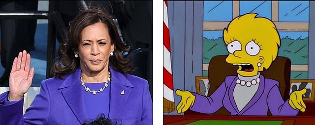 Surprise again 'The Simpsons', here is what he predicted for Kamala