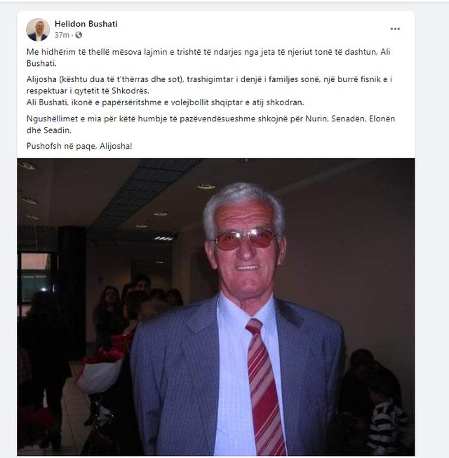 E trishtë/ Ndahet nga jeta sportisti legjendar shqiptar, miqtë dhe