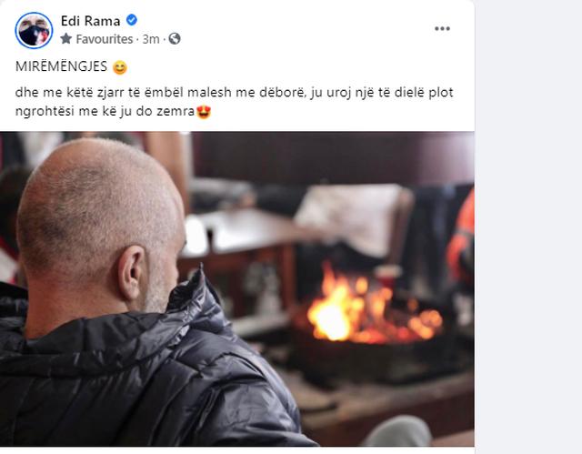Surprizon kryeministri Rama, si rrallëherë publikon foton duke u
