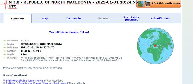 Toka nuk gjen qetësi/ Lëkundje tërmeti në Maqedoninë e