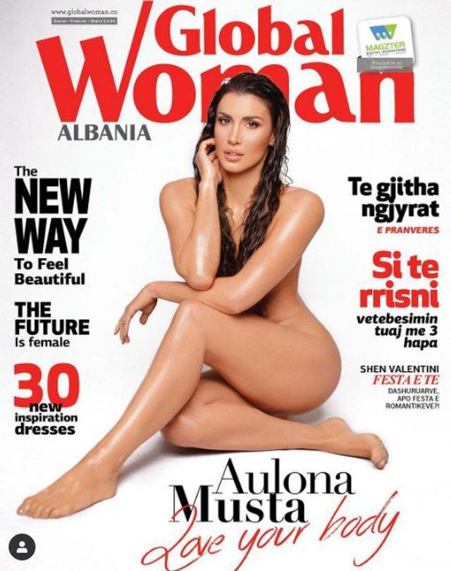 Moderatorja Aulona Musta u shfaq nudo në kopertinën e revistës