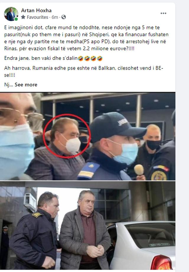 """""""Do të arrestohej live në Rinas"""", Artan Hoxha nxjerr fotot"""