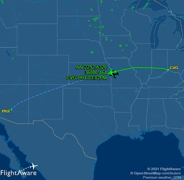 """The American pilot spotted """"Ufo"""" in this country during the flight,"""