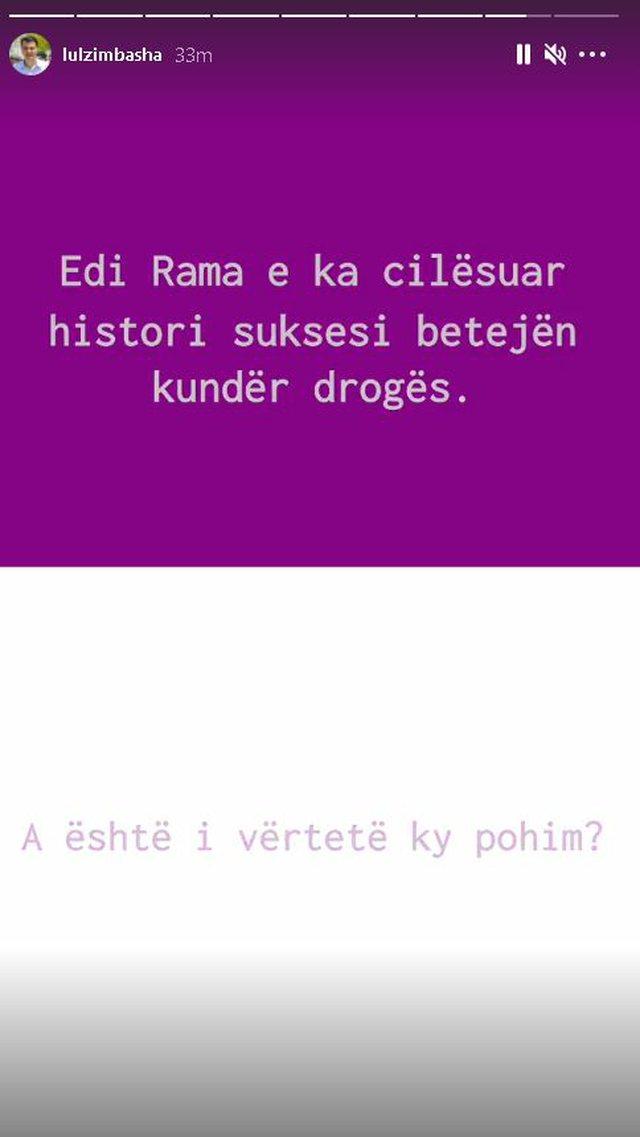 """100 failures of Rama"" / Lulzim Basha 'catches' the prime"