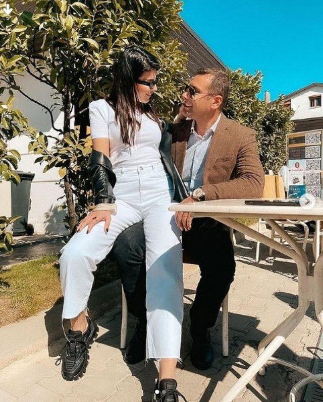 Sun and passionate kisses, Rudina shares intimate moments with Marku Frroku