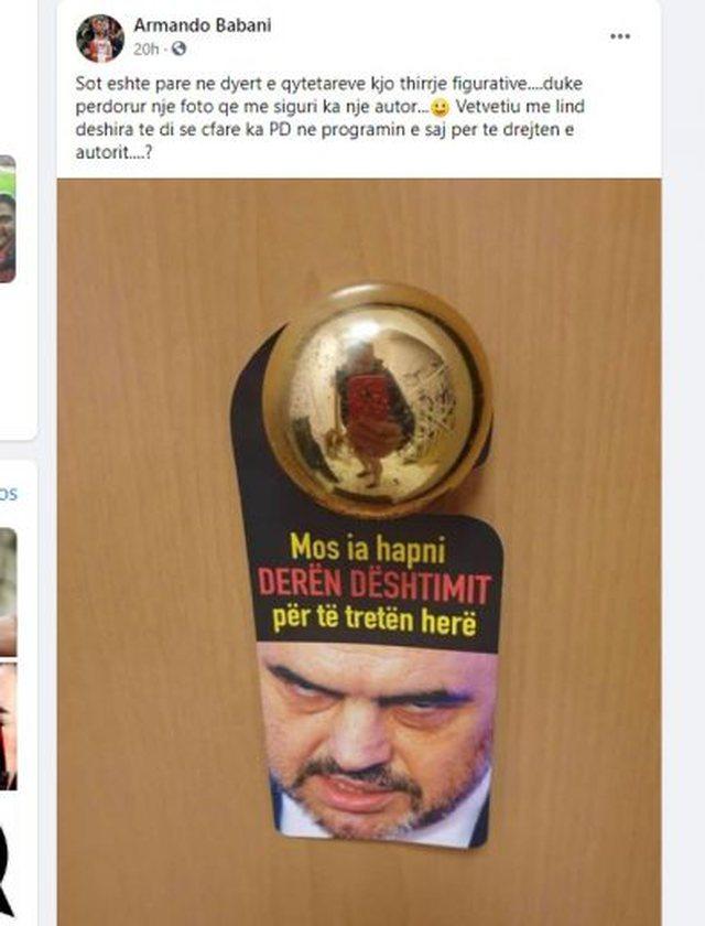 """PD fushatë """"derë më derë"""" kundër"""