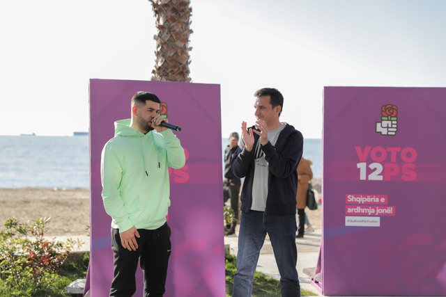 Noizy publicly supports the SP campaign in Tirana: What you have done for