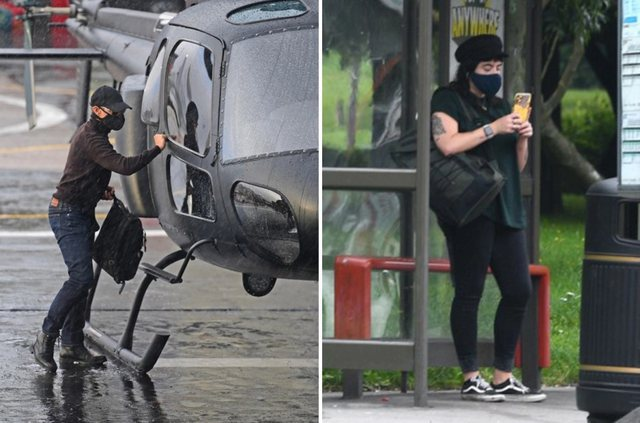 Fotot që po bëjnë xhiron e rrjetit/ Aktori i njohur me helikopter