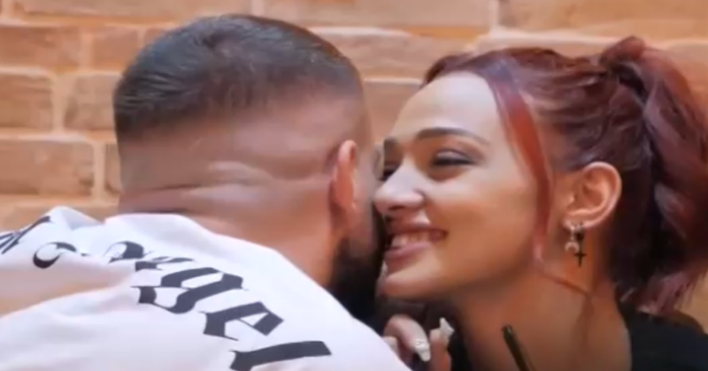 """Those who pretend to be strong, sometimes are nothing"""", Fatjoni and Melissa exchange kisses in the gym: Do you like it strongly? How are you in sex? - Gossip"""