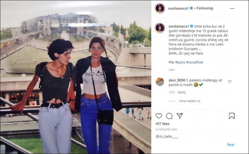 Sonila Meço poston foton e rrallë kur ishte 20 vjeç: Koha kur