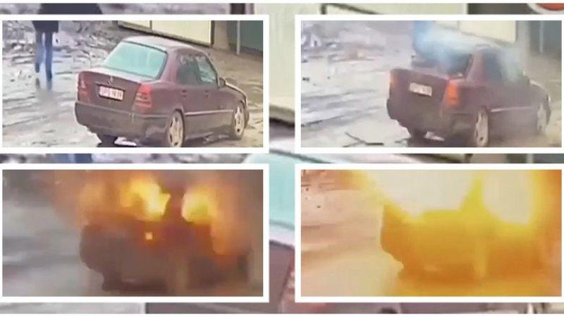 Momente shokuese, plas granata në makinë, pamjet kapen nga kamerat e
