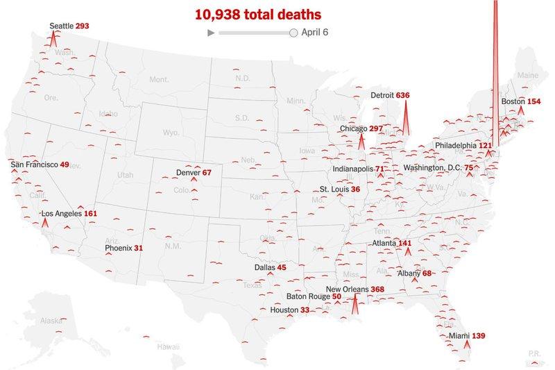 SHBA bilanc lufte, reth 400 mijë të infektuar në total dhe