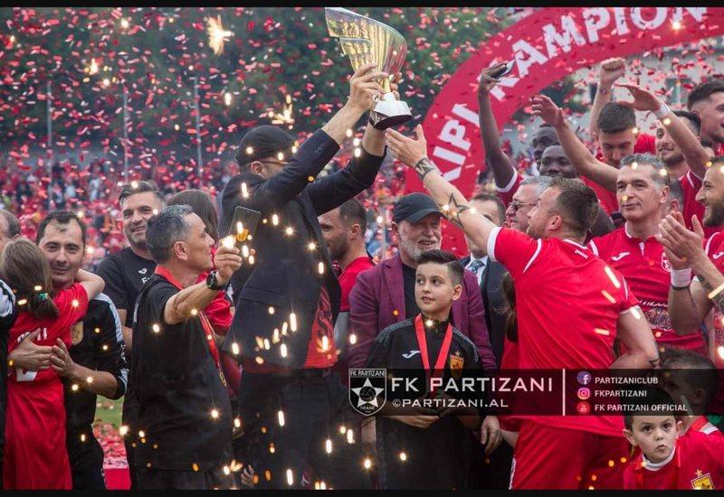 Partizani kujton titullin e një viti më parë, Gega emocionon me