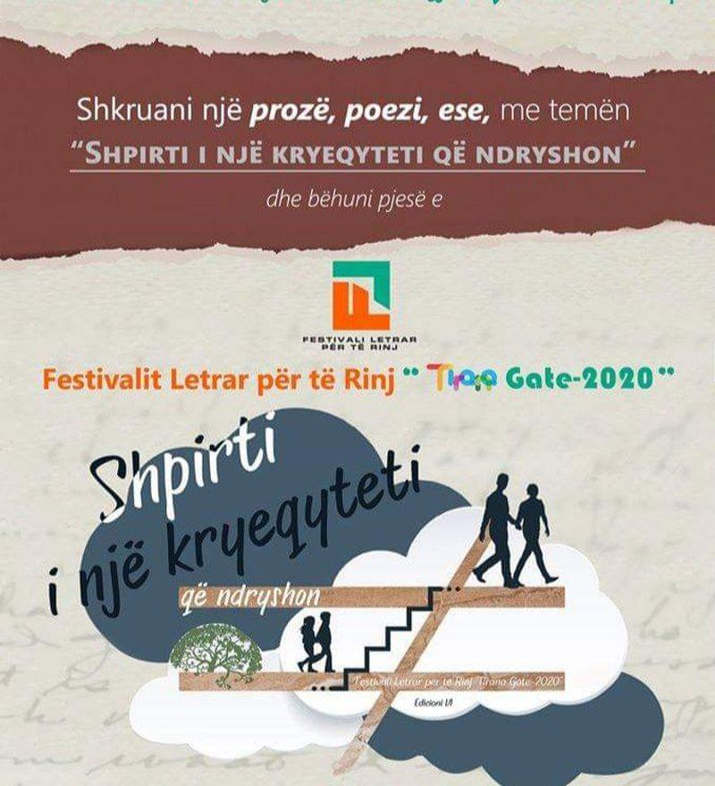 """Festivali letrar """"Tirana Gate-2020"""", edicioni i gjashtë i"""