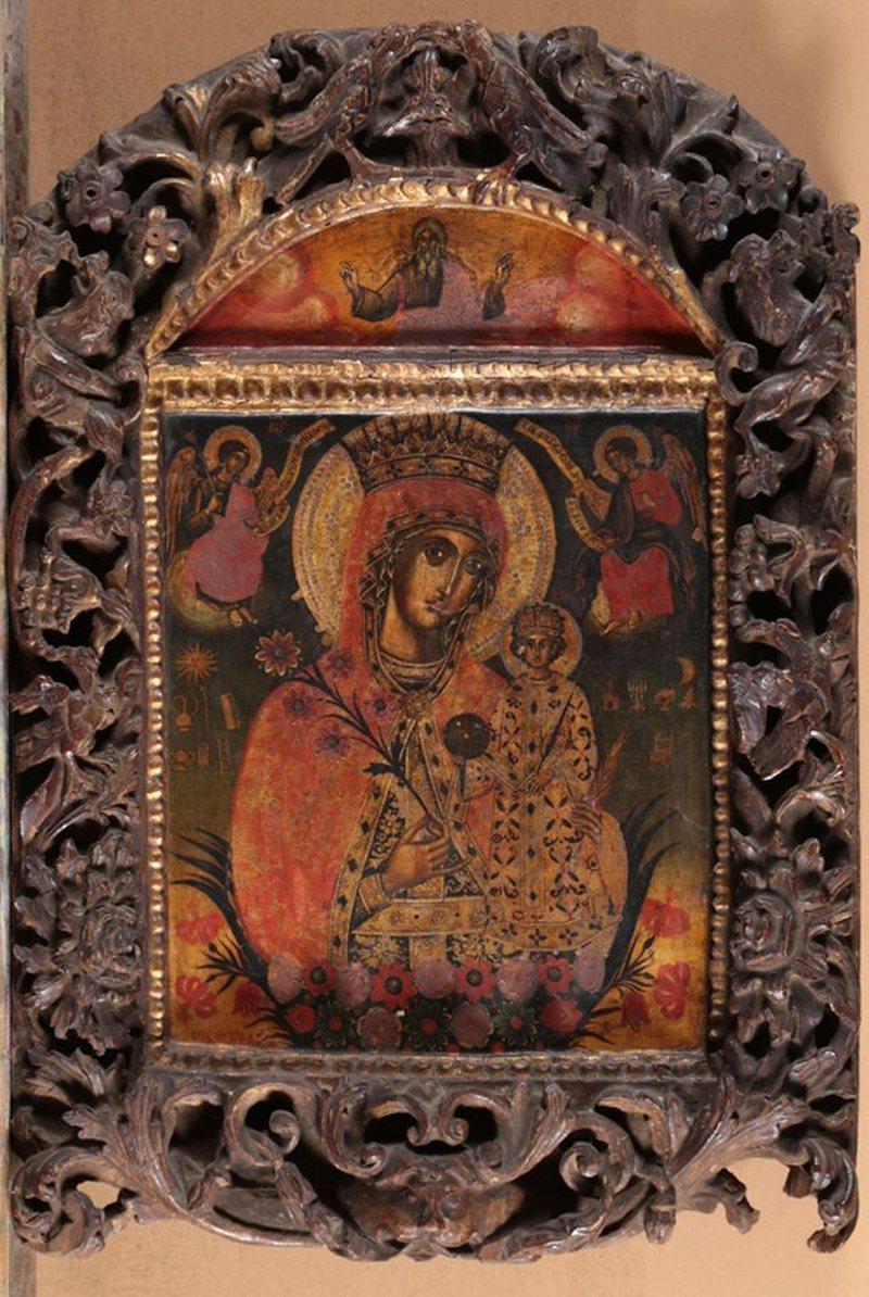 Ikonën Shën Mëria me Krishtin dhe dy engjëj, në Muzeun