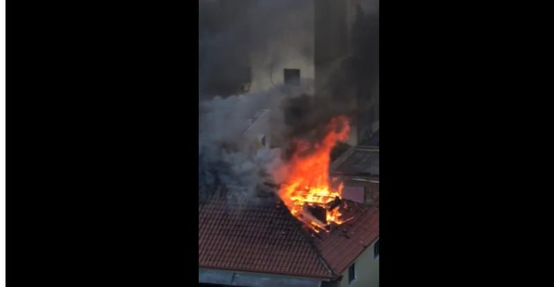 Merr flakë papafingoja e vilës në Tiranë (VIDEO)