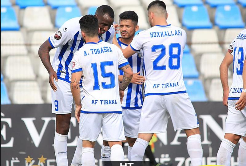 """Tirana fiton pa probleme """"Klasiken"""" shqiptare me Vllazninë,"""