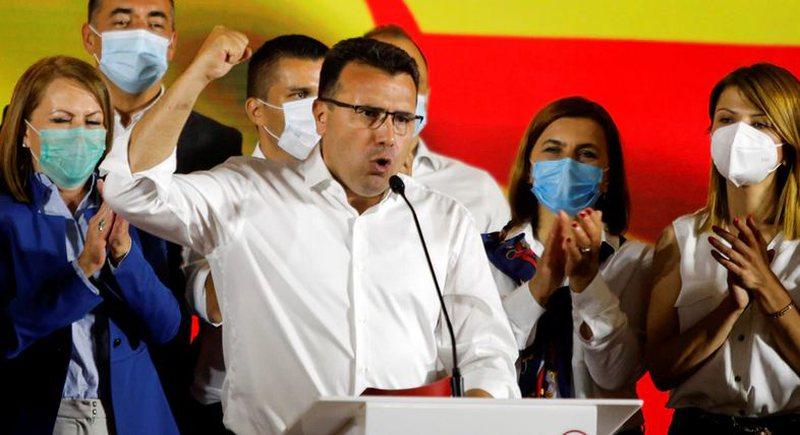 Zaev shpall fitoren e zgjedhjeve, qeveria në dorë të partive