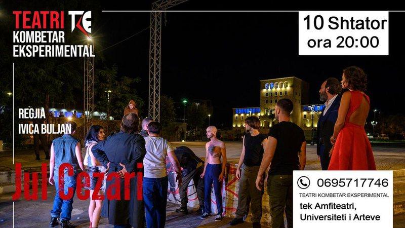 """""""Jul Cezari"""", nesër në mbrëmje në Teatrin Veror"""