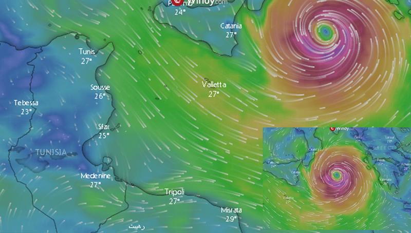 Aktivizohet cikloni i fuqishëm në Greqi, shihni pamjet