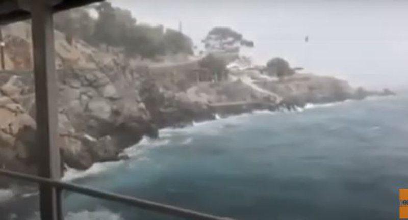 Publikohen pamjet e tmerrshme, stuhia godet fuqishëm ishullin grek,