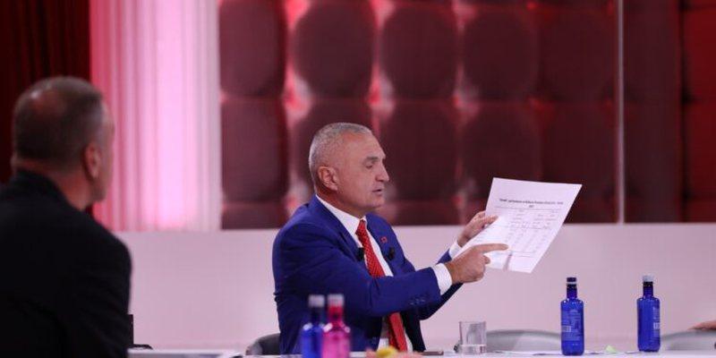 Ilir Meta nxjerr dokumentet e papritura në mes të emisionit për