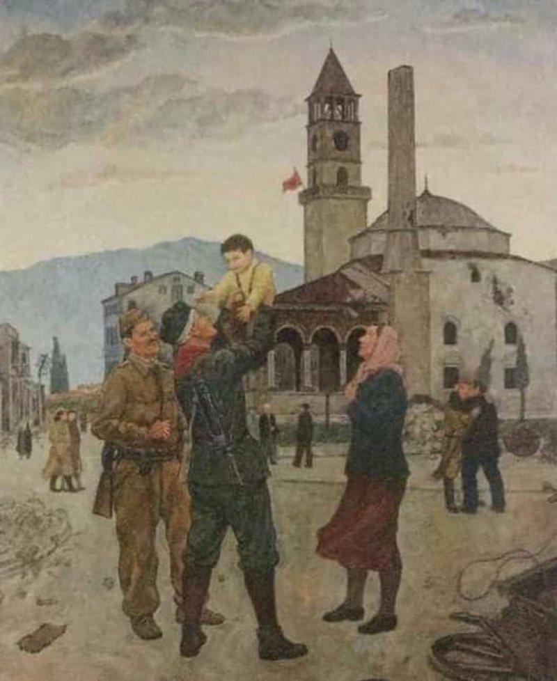 76 -vjetori i çlirimit të Tiranës, në veprën