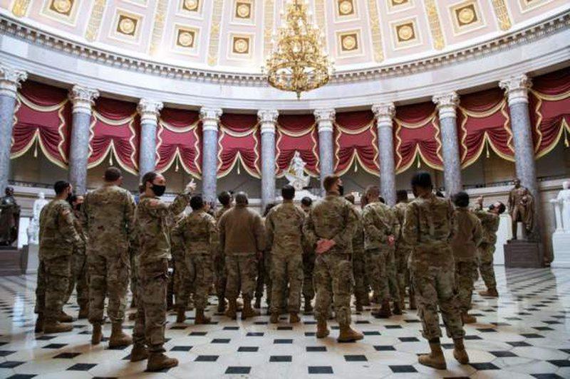 Trupat ushtarake amerikane për herë të parë në Kongres