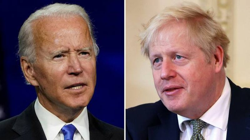 Biden conducts his first telephone conversation with Johnson, revealing what