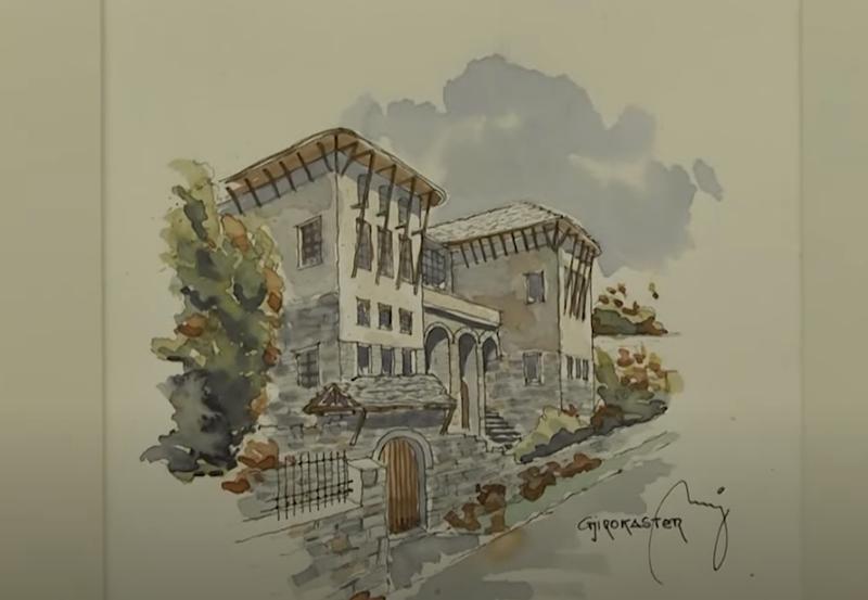 """""""Arkitektura popullore në akuarel"""", në muze me punimet e"""