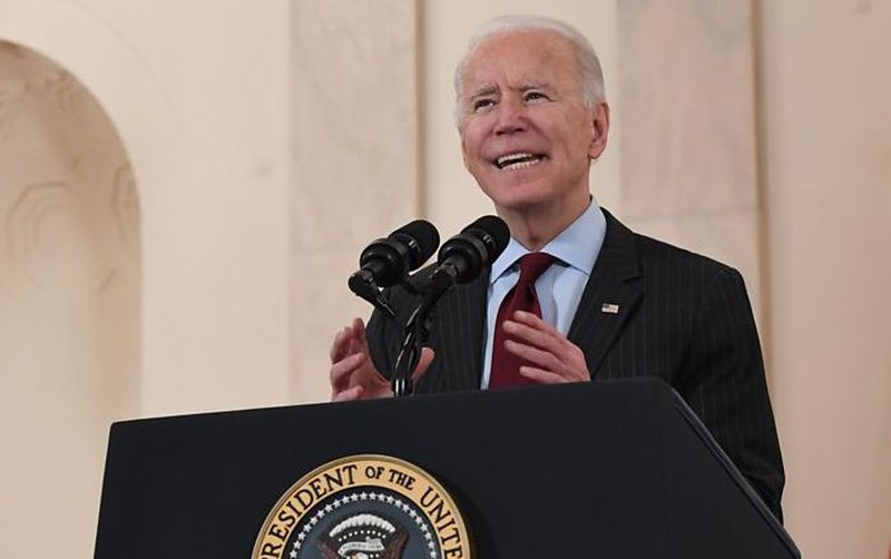 """""""Today we mark a really gloomy and sad moment"""" / Biden addresses the"""