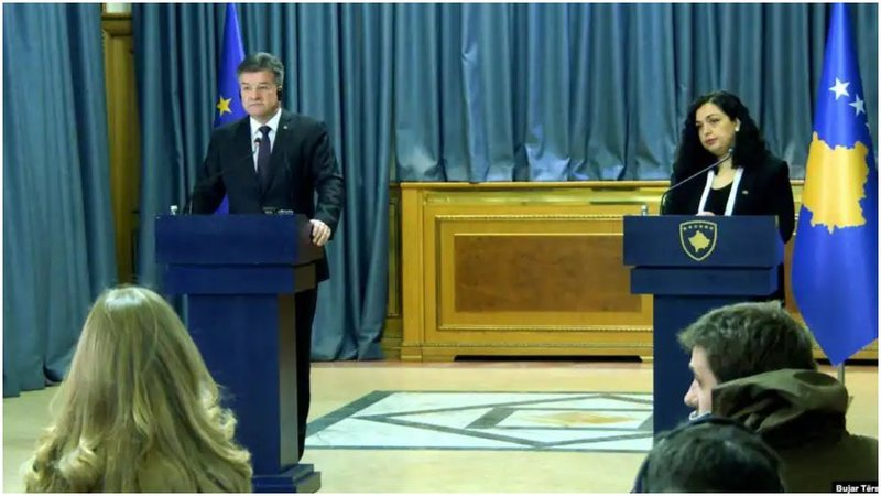 Lajcak increases pressure on dialogue with Serbia, Vjosa Osmani sets conditions,