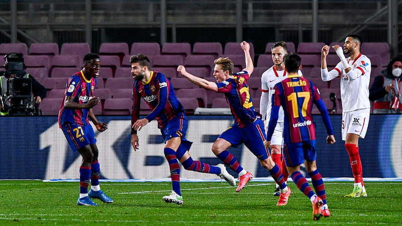 Qualifies Barça in Spanish Cup final, Pike damages ligament and will miss