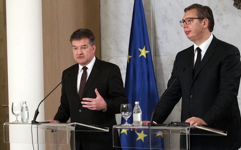 After Kosovo, Lajcak visits Serbia for dialogue with Kosovo, Vucic determined
