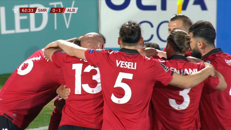 Shqipëria bën detyrën ndaj San Marinos, pozicionohet e treta
