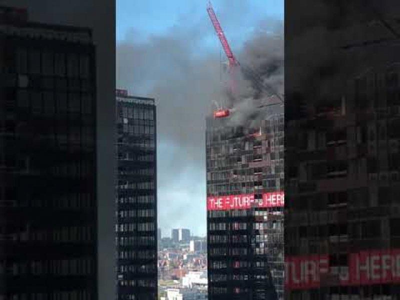 Panik në Bruksel, zjarr në katin e 27 të Kullës së