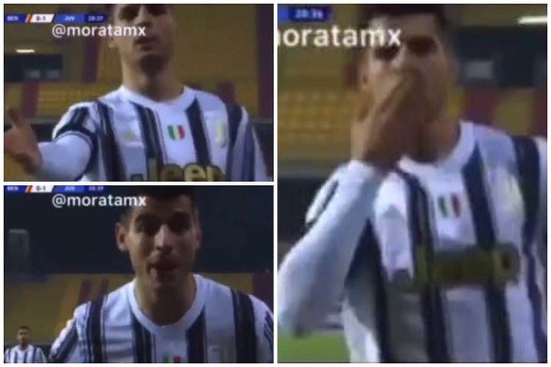 Images are circulating fast! Alvaro Morata dedicates the goal to the well-known